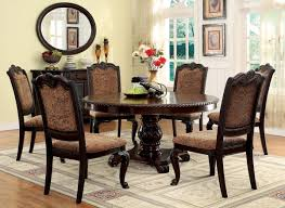 Circle Wood Dining Table by Chair Solid Wood Dining Table And 6 Chairs Tobuypropertyinspain