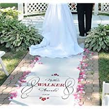 personalized wedding aisle runner personalized wedding aisle runners let s personalize that