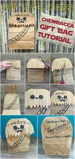 wars gift bags diy wars chewbacca gift bag tutorial culdesaccool