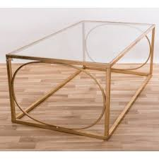 gold and glass coffee table glass tiered table gold wayfair co uk