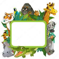 safari cartoon cartoon safari frame border stock photo agaes8080 28314279