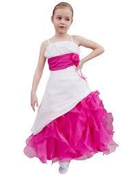 robe mariage fille robe cérémonie fille robe mariage enfant fushia et écrue