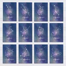 themed table numbers constellation table numbers printable zodiac wedding decor