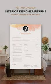 Interior Design Resume Templates 365 Best Resumes Images On Pinterest Resume Cv Resume Templates