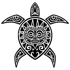 tribal sea turtle tattoo design