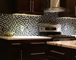 mosaic backsplash brown modern wooden island ceramic tile floor