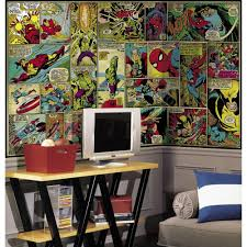 roommates 72 in x 126 in marvel classics comic panel ultra marvel classics comic panel ultra strippable wall mural