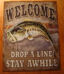 bass fishing home decor welcome bass fishing cabin fisherman rustic lodge primitive log