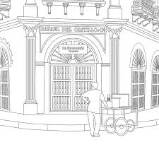 travel themed coloring books created from real