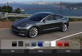which tesla model 3 customizations will be available to initial