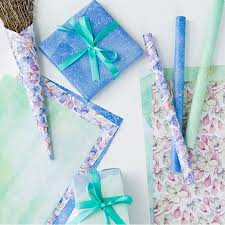 gift wrap with tissue paper 4 roll gift wrap paper outgeek bouquet printed wraps