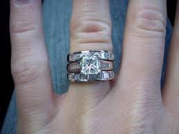 e wedding bands for newlyweds only do your e ring and wedding band sit flush