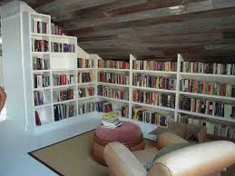 Old Book Barn Hand Crafted Custom Built In Bookcases And Old Barn Wood Ceiling