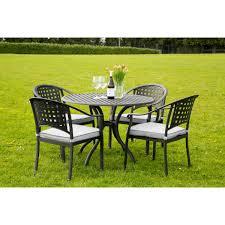 Garden Table Chelmsford 4 Seater Cast Aluminium Garden Furniture Set