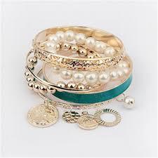 pearl bracelet styles images Charm bracelets bangles jewelry for women multilayer imitation jpg