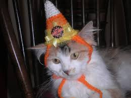 Pet Cat Halloween Costumes Candy Corn Dog Or Cat Hat Halloween Costume Party Hat