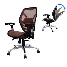 Ergonomic Office Chairs With Lumbar Support Homcom Deluxe Mesh Ergonomic Seating Office Chair Orange