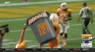 Tennessee Football Memes - the star of the tennessee georgia tech game was a trash can