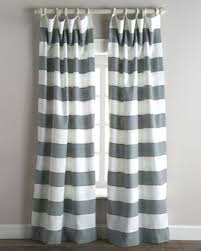 Grey White Striped Curtains Stripe Curtains Neiman
