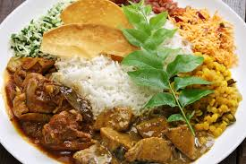 cuisine stock sri lankan rice and curry dish stock image image of chicken