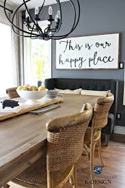 pier 1 dining room table large farmhouse wood sign with quote benjamin moore steel wool