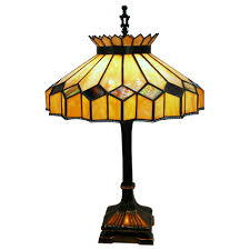 4456 fantastic stained glass table lamp c 1920 from