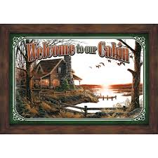 Vintage Powder Room Sign Rustic Mirrors With Wildlife Designs