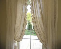 Rustic Curtains And Valances Valance Plaid Floral Ruffle Kitchen Curtain Balloon Valance