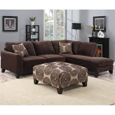 Discount Foam Cushions Porter Malibu Chocolate Brown Sectional Sofa With Ottoman By