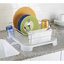 Bed Bath And Beyond Dish Rack Amazon Com Interdesign Dish Drainer With Swivel Spout For Kitchen