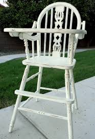Painted Metal Vintage Cosco High Chair Dining Room Deluxe Vintage Jenny Lind Wooden High Chair With