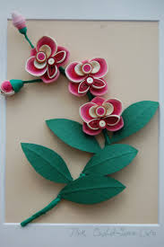 77 best orchidee images on pinterest quilling flowers quilling