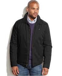 tommy hilfiger full zip microtwill jacket coats jackets men