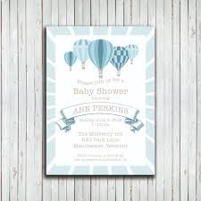 baby shower air balloon printable invitation teabird design