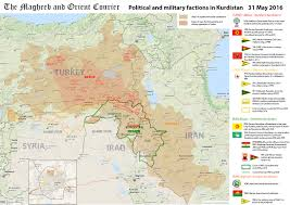 Syria On World Map by Arab World Map Kurdistan U2013 Political And Military Factions In