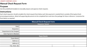 manual check request form accounting templates