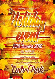 happy thanksgiving event free psd flyer template http