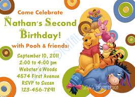 Birthday Invitation Cards For Friends Winnie The Pooh 1st Birthday Invitations Iidaemilia Com