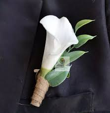 calla corsage really touch calla white yellow corsage fashion flowers groom