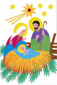 center wycinanki card the holy family