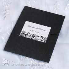 Cheap Wedding Invitations Online Cheap Black And White Floral Pocket Wedding Invitations Iwps089