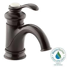Oil Rubbed Bronze Faucet Bathroom Kohler Fairfax Single Hole Single Handle Mid Arc Bathroom Vessel