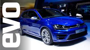 vw golf r mk7 frankfurt 2013 evo motor shows youtube