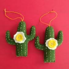 handmade felt cacti brooches badges each measures about 2 3