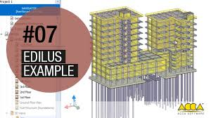 structural calculation software edilus example 07 youtube