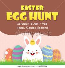 easter egg hunt eggs easter egg hunt poster invitation leaflet stock vector 593451062