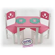 american doll table and chairs amazon com guidecraft white wooden doll table and chairs set