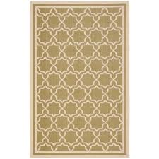 Faux Sisal Rugs Home Depot by Safavieh Courtyard Green Beige 8 Ft X 11 Ft Indoor Outdoor Area
