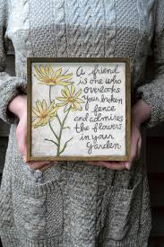 friendship quote photo frame yellow flowers friendship quote artwork prints home decor