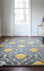 Round Living Room Rugs Uk Yellow Gray Area Rug Moroccan Trellis Modern Grayyellow 9 Ft X 12